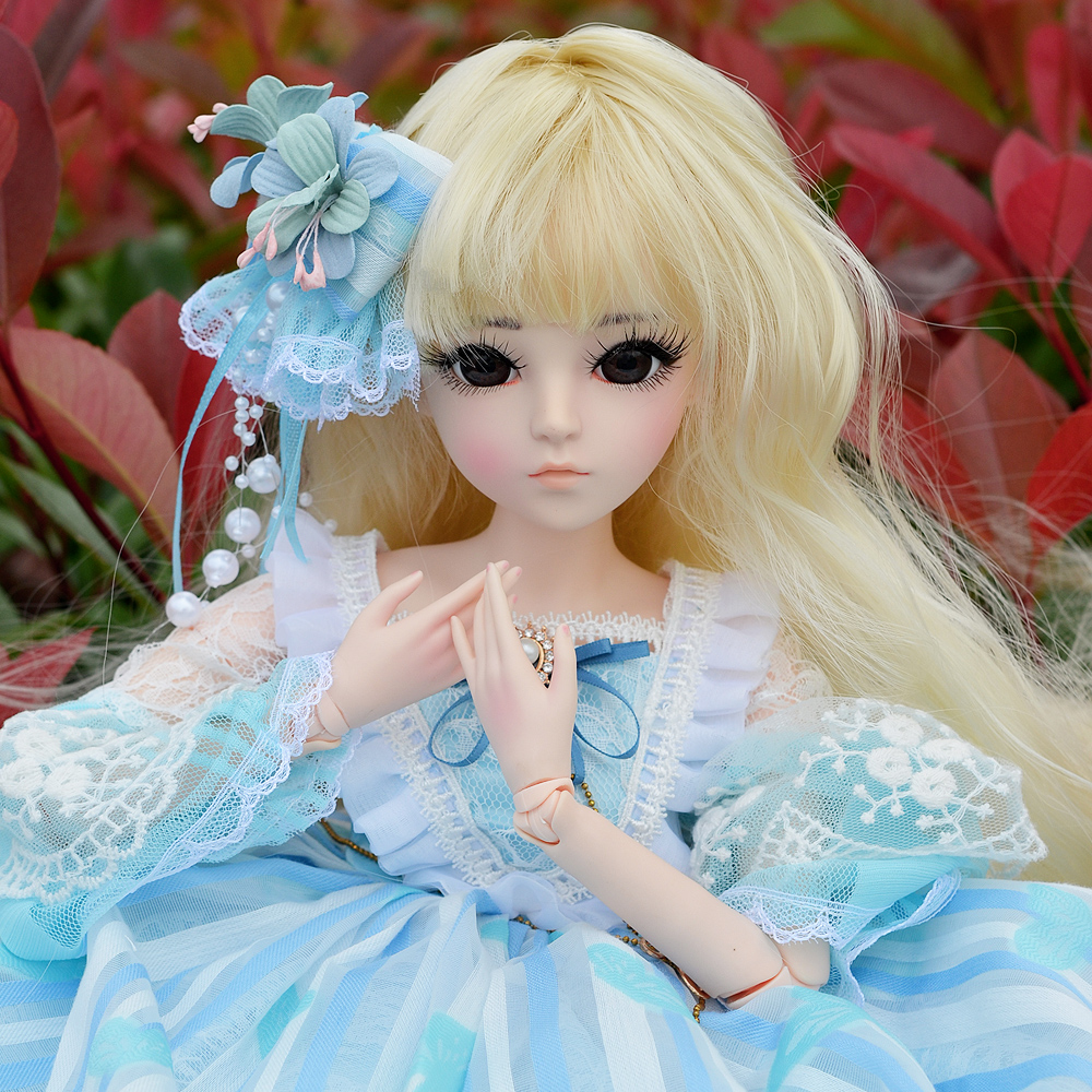 60CM BJD Doll 24'' 1/3 SD Dolls With Beauty Dress Shoes Wig Makeup Full Outfits 18 Ball Jointed Dolls for Girls Toys Gift shengboao 1 3 female bjd dolls full set makeup sd doll 18 ball jointed dolls beauty handmade toys for girls gift