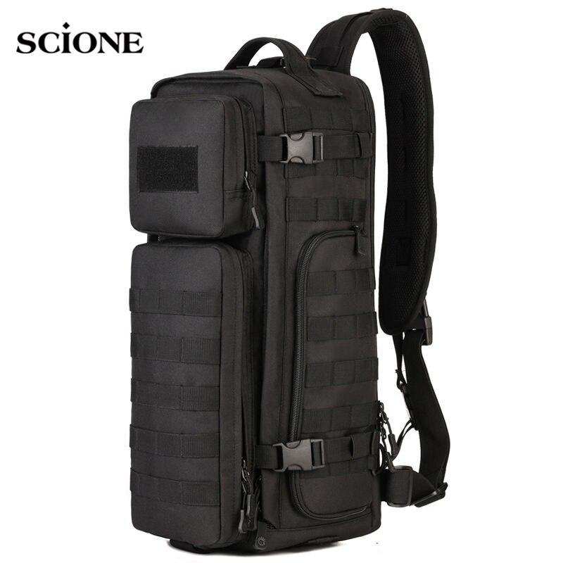 Hommes poitrine fronde sac à dos hommes sacs une seule épaule homme grand voyage militaire sacs à dos Molle sacs à dos en plein air XA495WA