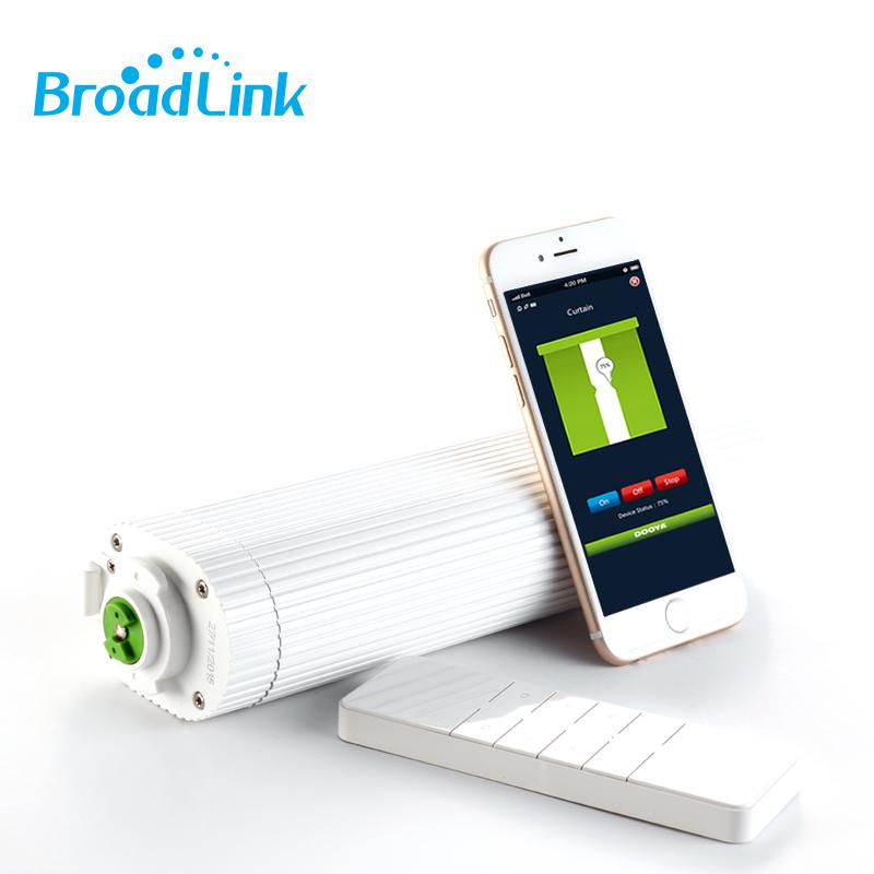 Prix pour Broadlink ADN Dooya WiFi Électrique Rideau Moteur DT360E Télécommande + super tout à fait rideau piste Pour Smart Home Automation