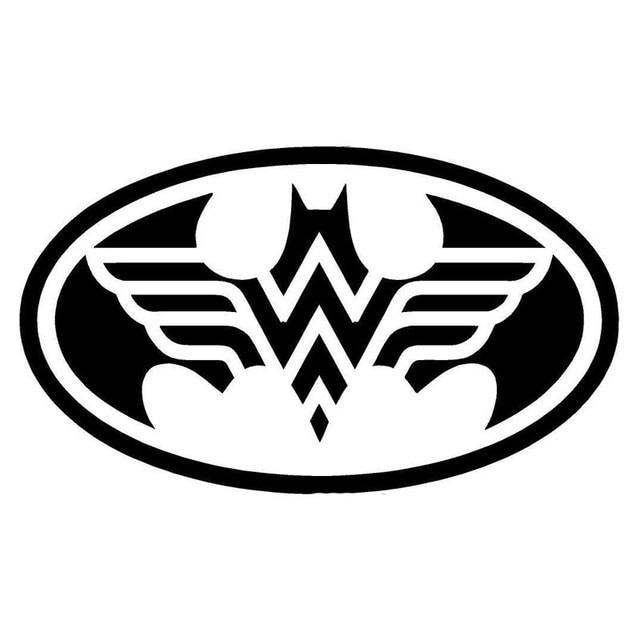 Yongxun 16596cm Batman And Wonder Woman Logo Cool Vinyl Car