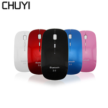 CHUYI Wireless Bluetooth 3.0 Mouse Ultra Slim 1000-1200-1600DPI Optical Gaming Mause Computer Mice BT For PC Laptop