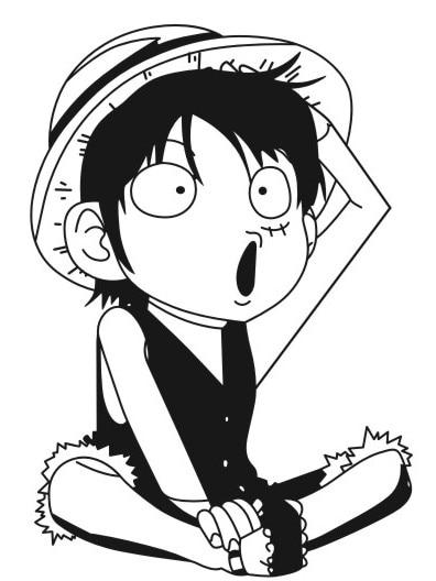 64 Gambar Kartun One Piece Hitam Putih Cikimm Com