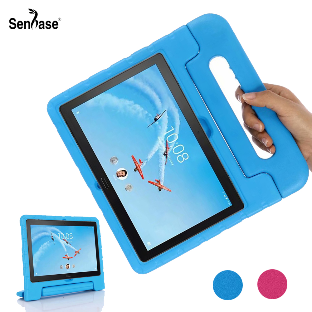 EVA Portable Handle Stand Kids Safe Foam Shockproof Cover For <font><b>Lenovo</b></font> Tab P10 <font><b>TB</b></font>-<font><b>X705L</b></font> <font><b>TB</b></font>-X705F M10 <font><b>TB</b></font>-X605F <font><b>TB</b></font>-X605L Tablet <font><b>Case</b></font> image