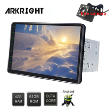 ARKRIGHT 10.1 Android 8.1 Car GPS Player Universal Double Din Navigation built-in 4G modem IPS screen Zlink