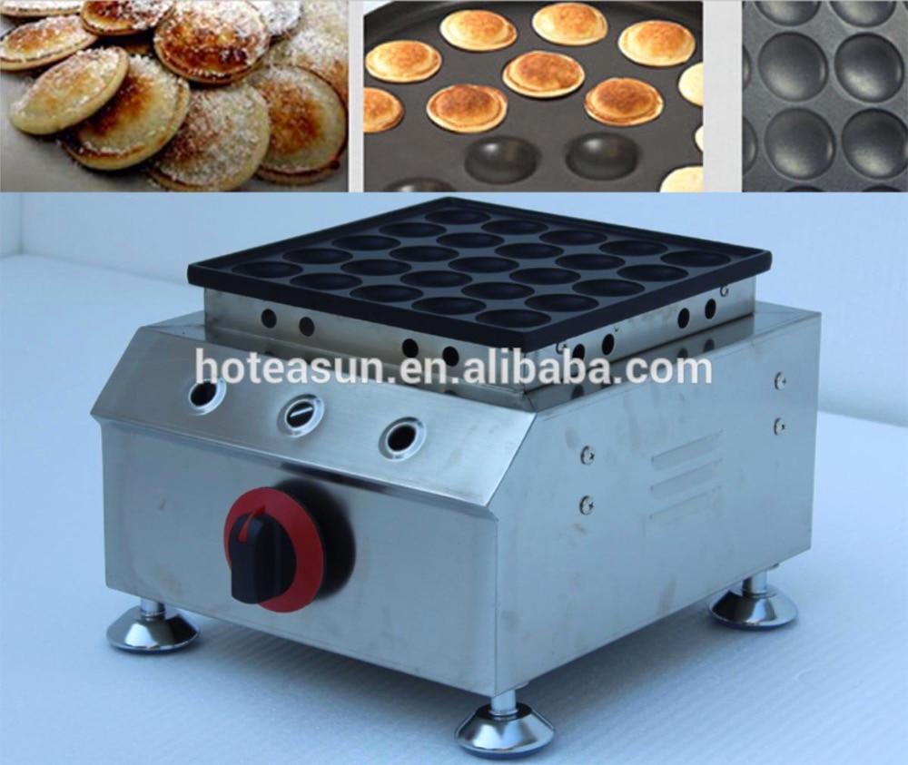 25pcs Commercial Use Non-stick Little Dutch Pancake LPG Gas Poffertjes Baker Maker Iron Machine commercial use lpg gas japanese octopus balls iron baker maker machine