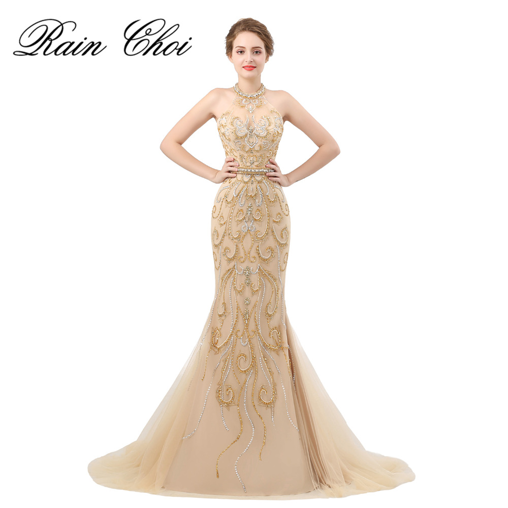 Real Photo Evening Dresses Long Mermaid High End Beaded Women