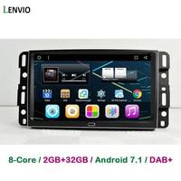 Lenvio 9 ips Оперативная память 2 ГБ + 32 ГБ Android 7,1 автомобиль gps DVD плеер для GMC Yukon Tahoe acadia 2007 2012 Chevrolet Tahoe Suburban 2007 2012