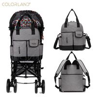 Colorland Baby Nappy Diaper Mummy Maternity Travel Bag Organizer Backpack Baby Stroller Bag Mom Handbag Mother