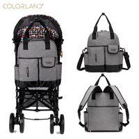 Colorland Baby Nappy Diaper Mummy Maternity Travel Bag Organizer Backpack Baby Stroller Bag Mom Handbag Mother