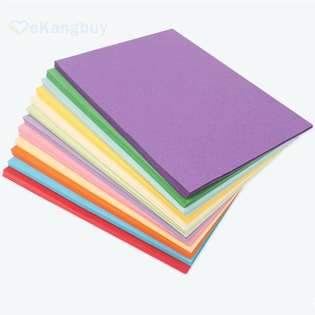 100 Feuilles A4 Papier Copie Couleur 80g Bricolage Enfants Papier