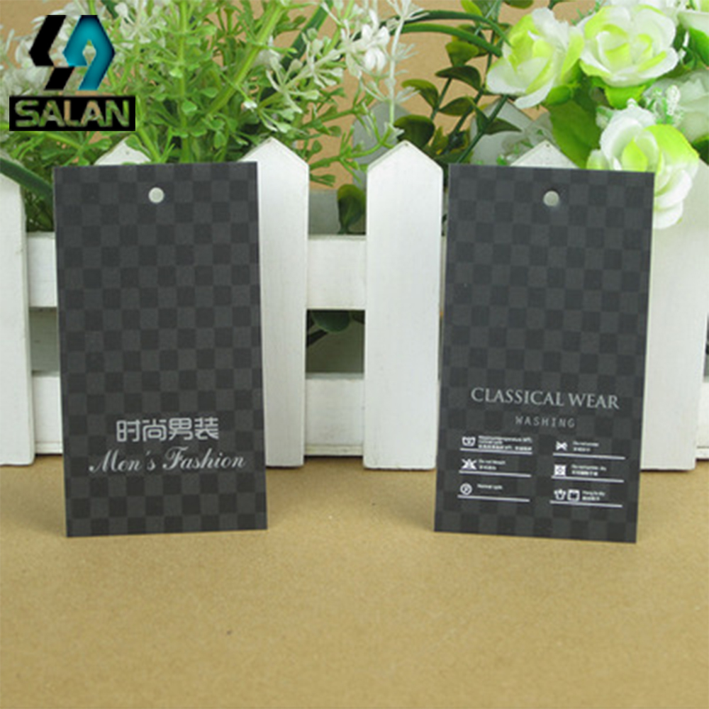 Spot wholesale general fashion men s high - end clothing tag paper card made two sets of a bag tag