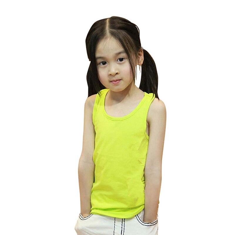 Hot Children Vest Baby Summer Girl Cotton Sleeveless Kids Tank Beach Camisoles SHM L6