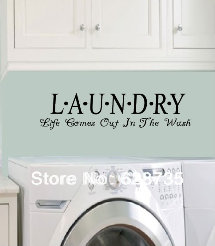 Laundry Room Vinyl Wall Quotes Alluring Laundry Room Sticker Wall Art  Peenmedia Inspiration Design