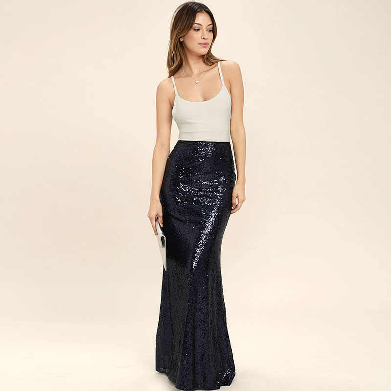 dc78e80026 Detail Feedback Questions about Shiny Sequin Black Skirt Custom Made ...