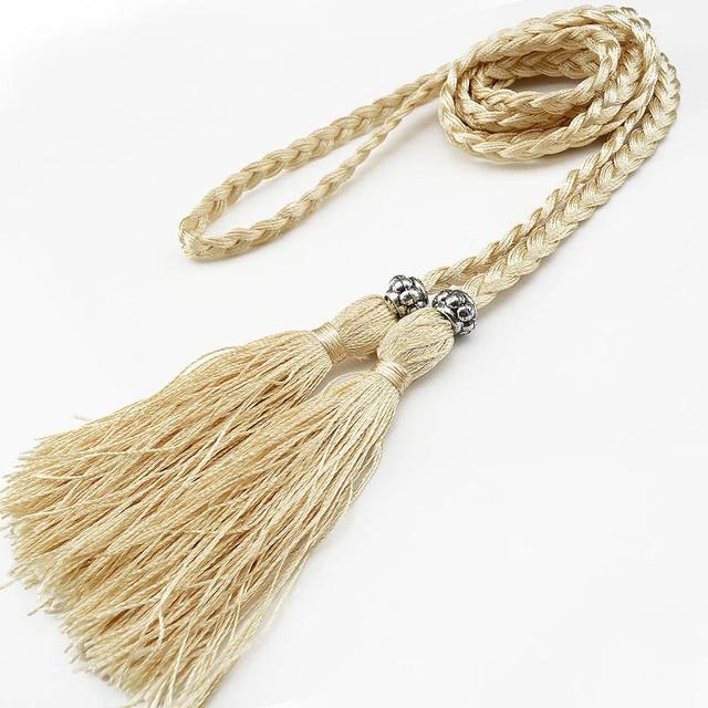 Gland tressé chaîne de taille 160cm   Corde de taille, accessoires Hanfu de Style chinois, ceinture pour femmes, décoration de haute qualité