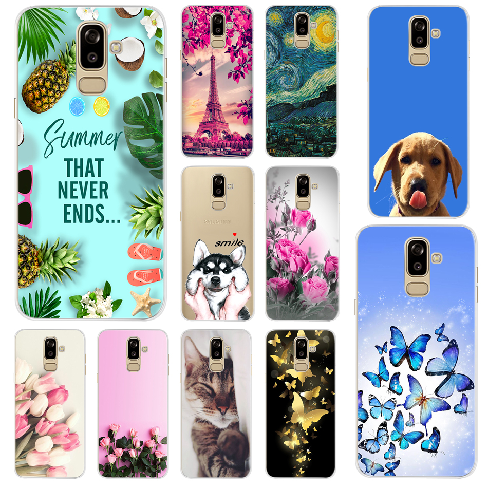 For Samsung Galaxy J8 2018 Case Samsung J8 2018 Soft Silicone TPU Phone Cases Back Cover For Samsung Galaxy J8 2018 J800 J810