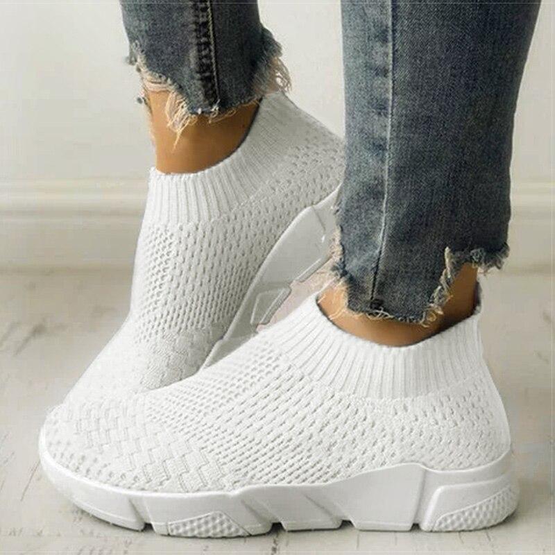 Женская обувь; Слипоны; Белые кроссовки для женщин; Вулканизированная обувь; Basket Femme; Супер светильник; Женская повседневная обувь; Не сужающиеся книзу кроссовки|Кроссовки и кеды|   | АлиЭкспресс