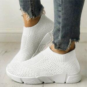 Women Shoes Slip On White Snea