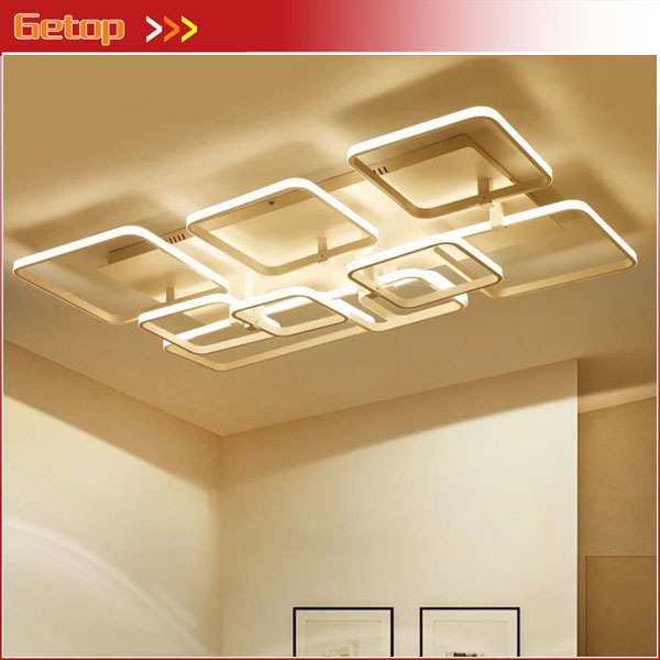 Modern Rectangle Ceiling Chandelier Lights For Living Dining Room Bedroom Aluminum Chandeliers Fixtures lustre plafonnier