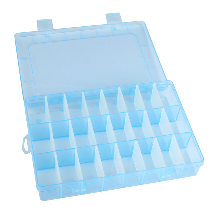 24 Grids DIY Adjustable Plastic Storage Box Jewelry Box Carrier