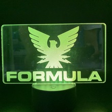Led Night Light Formula 1 F1 Car Racing Logo Color Changing Indoor Room Decorative Nightlight Birthday Gift for Boys Table Lamp formula 1 2010 гонки racing page 1