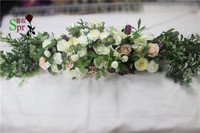 SPR 2018 2m/pcs wedding arch flower table runner centerpiece stage backdrop decorative artificial flower wholesale