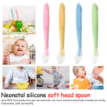 flatware cutlery colher spoon silicone tools-for-patchwork lot soup ladle baby spoons feeding dishes Tableware for children