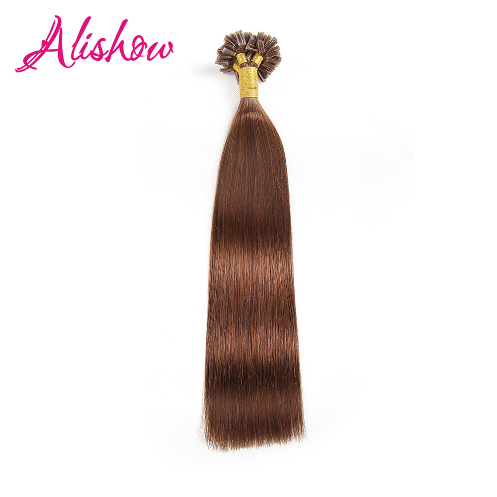 Alishow U Tip Machine Made Remy Pre Bonded Human Hair Extension