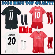 2019 Realed Madrided kids kit + socks Soccer jersey 18 19 MARIANO BALE  BENZEMA child football af35c31e6