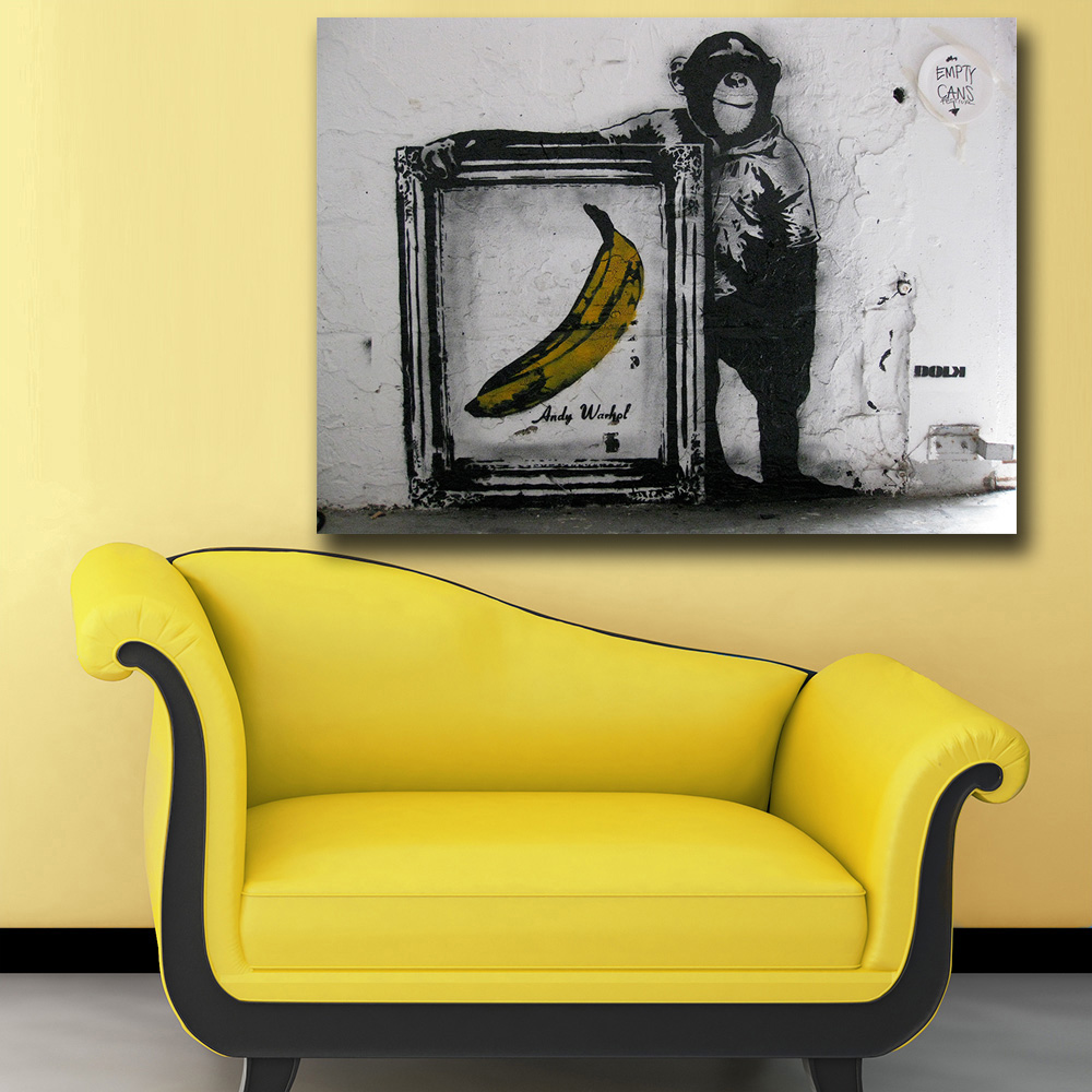 Mklql Art Chimps and Andy Warhol bananas Canvas Painting For Living ...