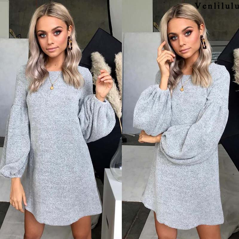 2018 Autumn Long Sweater Dress Women Knitted Sweater Winter Spring Loose Warm Sweaters Ladies Woman Pullover Female Pullovers