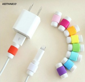 KEITHNICO 10pcs Cable Protector Saver USB Charger Data Line Protection Cover Sleeve Cable Winder For iPhone for iPad