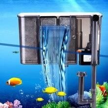 Аквариумный погружной фильтр настенный аквариум силовой фильтр водопадный аквариум фильтр с воздушным насосом ЕС США Великобритания штекер