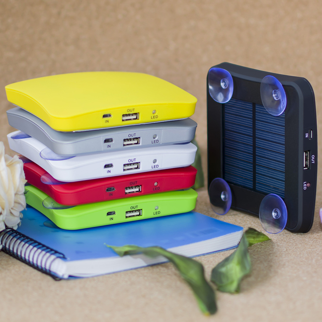 5200mah SUNEVER NEW Arrival Solar Power Bank Portable Square Suckers Style Solar Charger Standard USB Solar Power Bank 6 colors