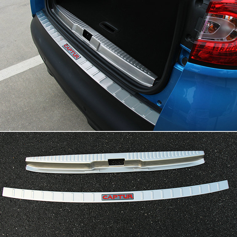 CAR After Stainless Steel guard Car Accessories For Renault Captur 2014 2015 aosrrun after the stainless steel backboard of the guard board the rear guard plate car accessories for acura cdx 2016 2017