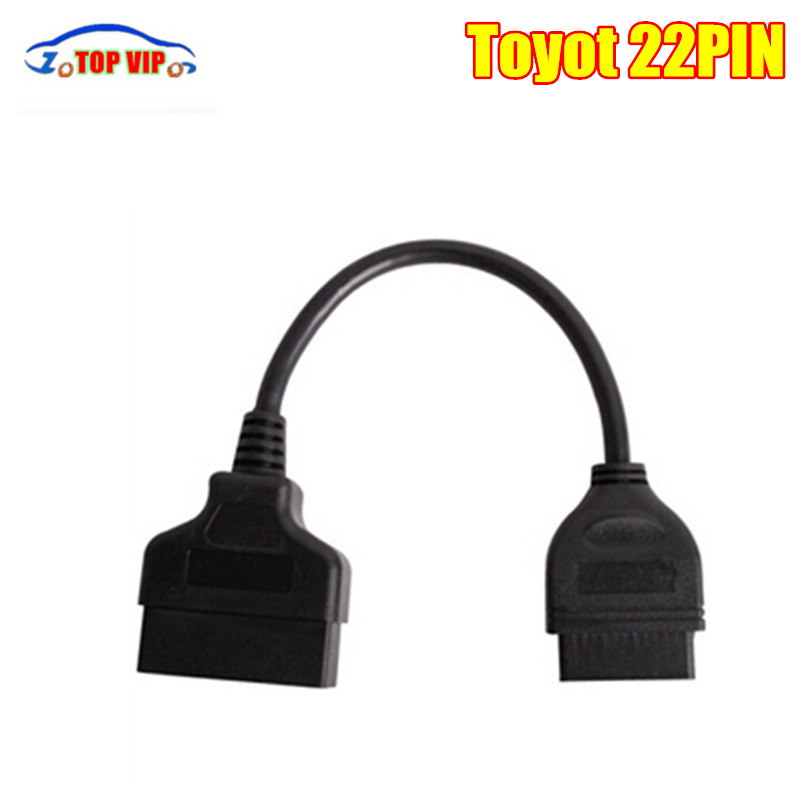 High quality obd OBDII 16Pin to To-yo-ta 22Pin OBD OBD2 Cable Connector For Toyota 22 Pin Cables and Connectors