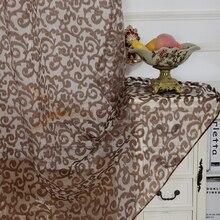 Rideaux tulle tissu transparent rideaux moderne