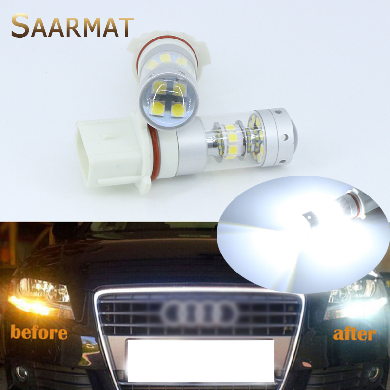 2pcs Error Free White 140W P13W LED Bulbs For 2008-12 Audi B8 model A4 or S4 with halogen headlight trims 2pcs brand new high quality superb error free 5050 smd 360 degrees led backup reverse light bulbs t15 for jeep grand cherokee