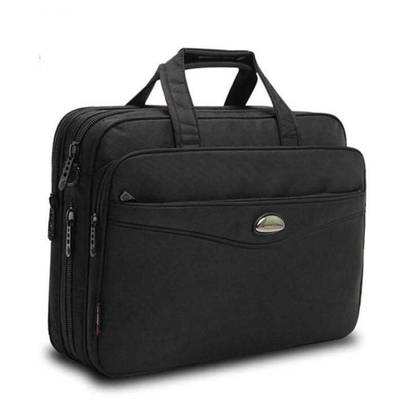 Sacoche pour hommes d'affaires en tissu Oxford noir porte-documents Portable de grande capacité et sacoche pour ordinateur Portable pour hommes