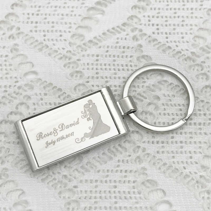 TỰ LÀM logo của bạn hình chữ nhật keychain Ủng Hộ Đám Cưới Và Quà Tặng Quà Lưu Niệm Đám Cưới Nguồn Cung Cấp Đám Cưới