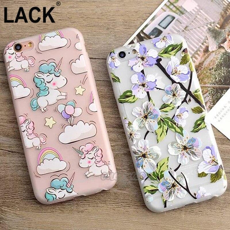 LACK Cute Unicorn Rainbow Phone Case For iphone 6 6S Plus