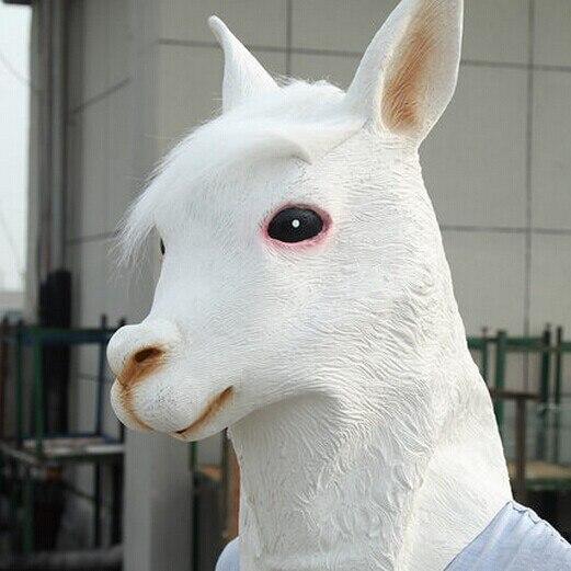 Latex alpaga masque jabbawockeez halloween masque blanc mascarade masques cheval produits des articles de fête de noël masques