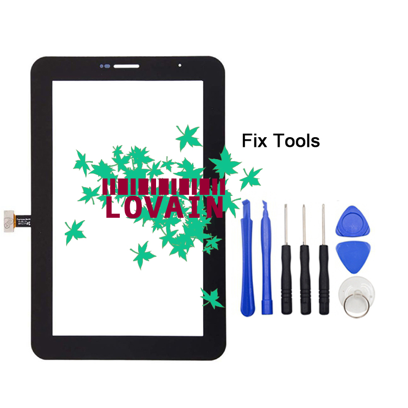 LOVAIN Original 1PCS Black White (Tested) For Samsung Galaxy Tab 2 7.0 P3100 P3110 Glass Lens Digitizer Touch Screen Panel+Tools new 7 inch for samsung galaxy tab 2 7 0 p3100 p3110 touch screen panel glass sensor digitizer tablet pc replacement parts