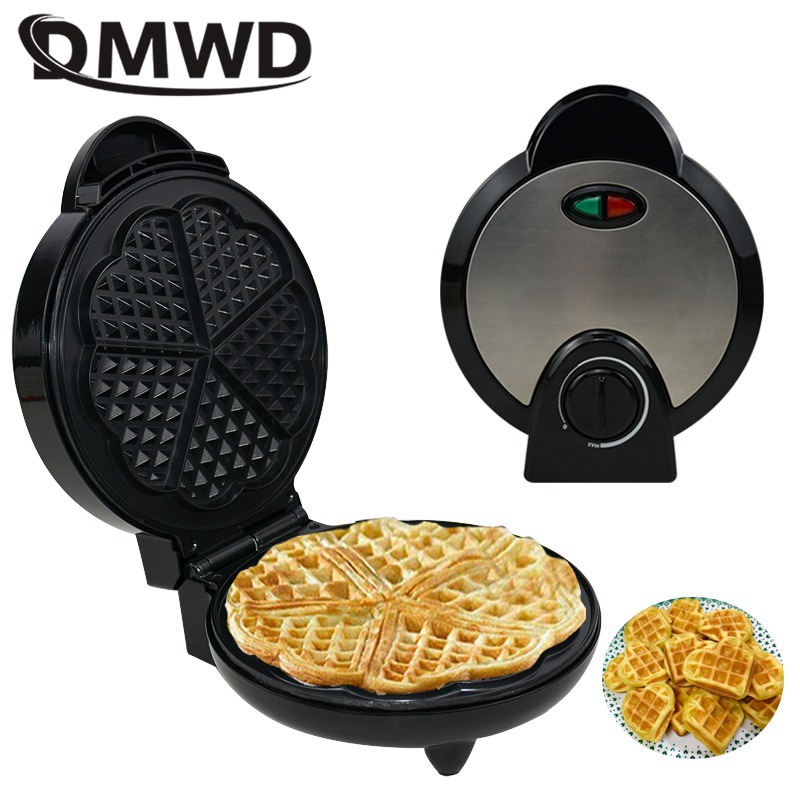 DMWD Electric Waffle Machine Non-stick Muffin Pancake Baking Pan Hotcakes Eggette Crepe Pannenkoeken Maker For Breakfast EU US