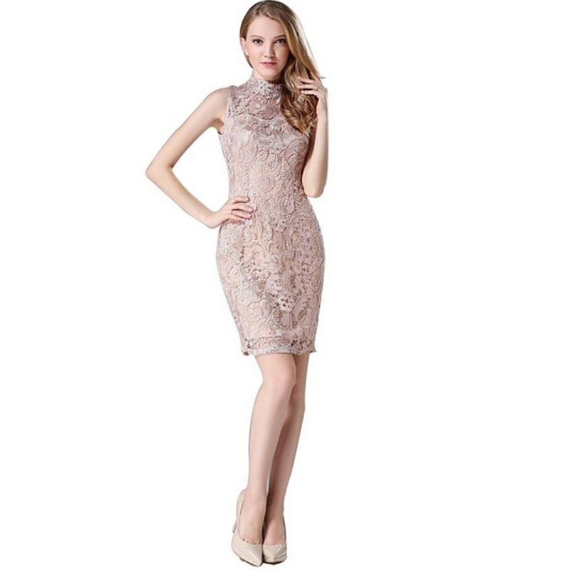 39e32802a7fa Explosion Models 2016 New Design Formal Dress For Fashion Women High  Neckline Lace Evening Dresses Cocktail Party Gowns