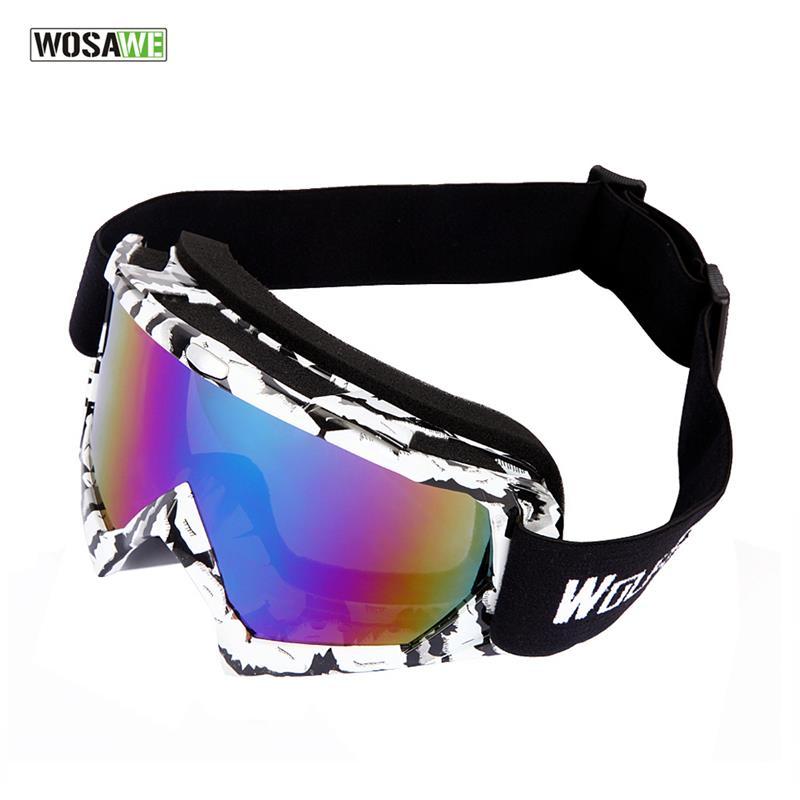 WOSAWE Ski Goggles UV400 Anti-fog Big Ski Mask Glasses Skiing Men Women Snow Snowboard Goggles Cycling Goggles