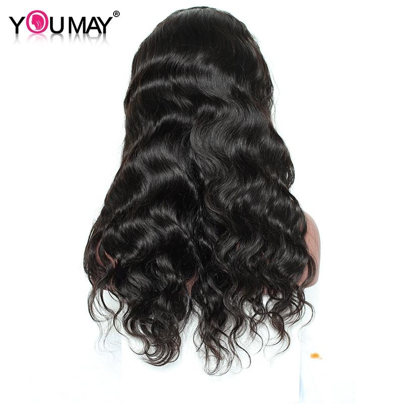 Pre-Plucked Glueless 풀 레이스 인간의 머리카락을 가진 - 인간의 머리카락 (검은 색) - 사진 4