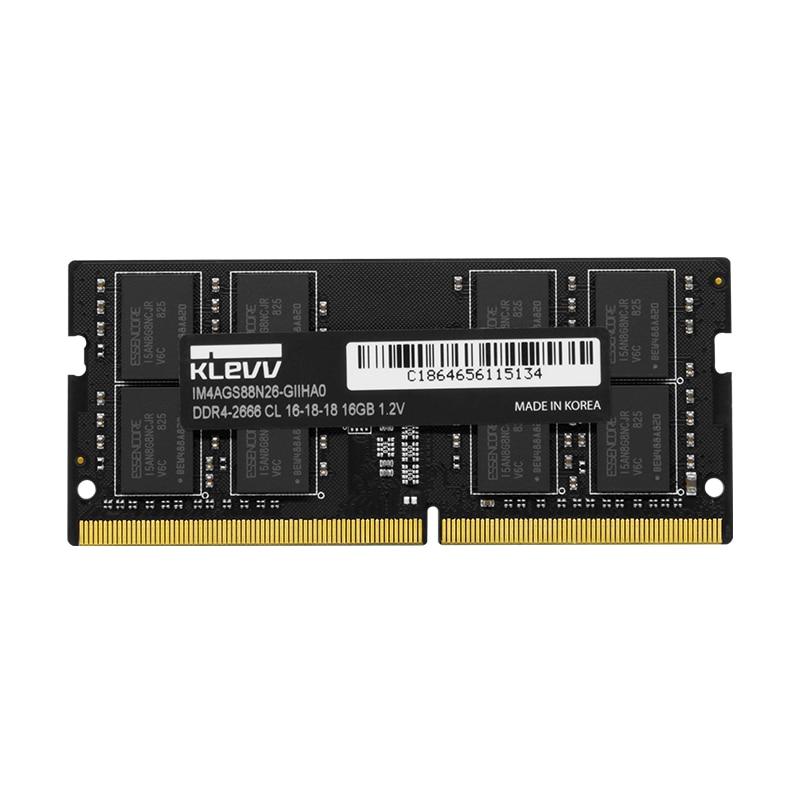Klevv DDR4 2666 MHZ 4 GB 8 GB 16 GB Ordinateur Portable PC DIMM mémoire vive 288 pins Pour intel amd Entièrement compatible 1.2 v garantie à vie