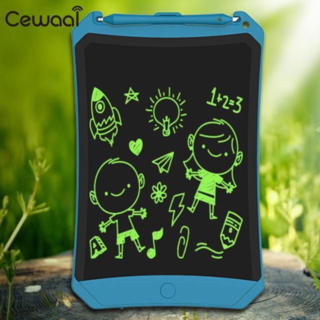 Cewaal 8.5 polegadas LCD Almofadas de Escrita Placa de Escrita Pintura Desenho Pad Digital Digital Fina Educação Tablet