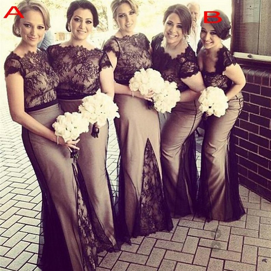 Compare prices on short bridesmaid dress patterns online shopping vestido madrinha casamento longo2017 new lace short sleeve sexy mermaid black champagne burgundy bridesmaid dresses cheap ombrellifo Images
